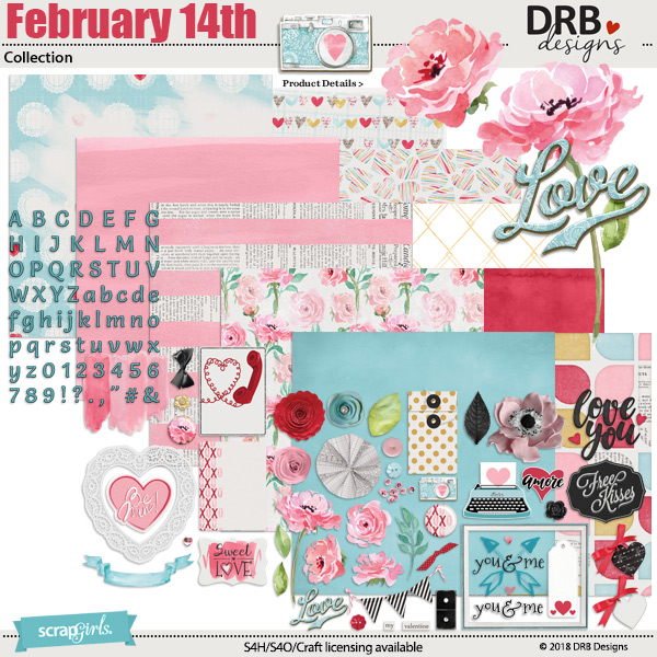 February 14th Collection by DRB Designs | ScrapGirls.com