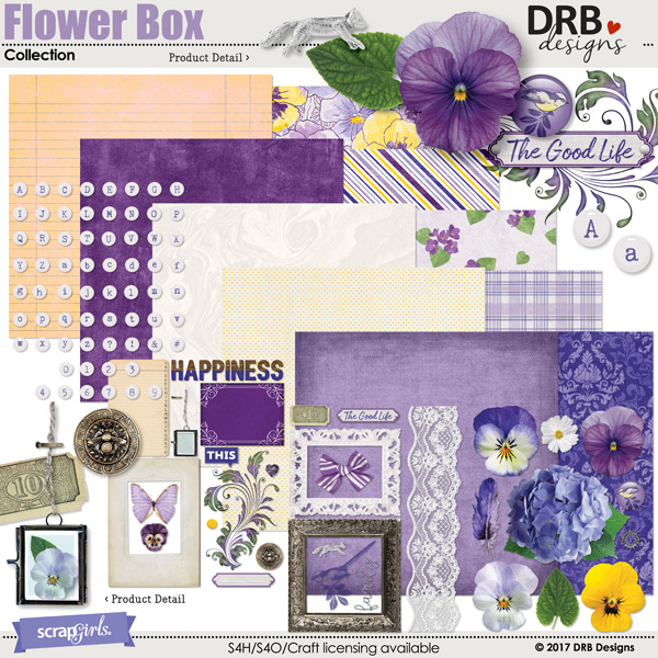 Flower Box Collection by DRB Design | ScrapGirls.com