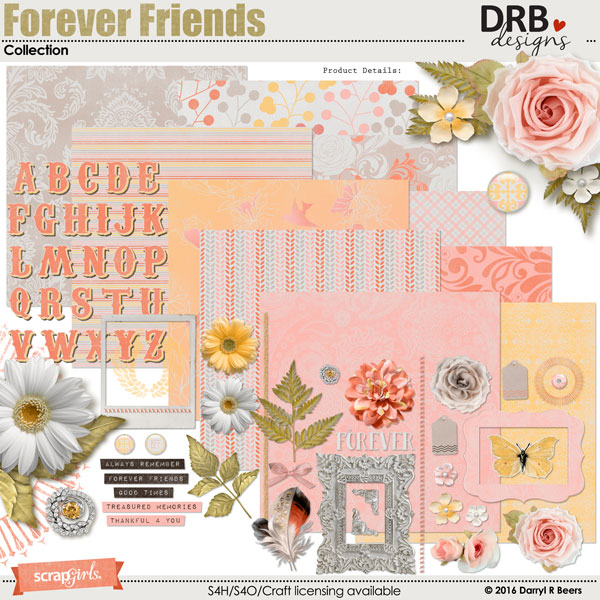 Forever Friends Collection by DRB Designs | ScrapGirls.com