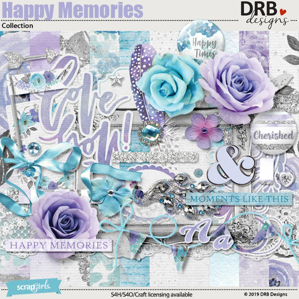 Happy Memories Collection by DRB Designs | ScrapGirls.com