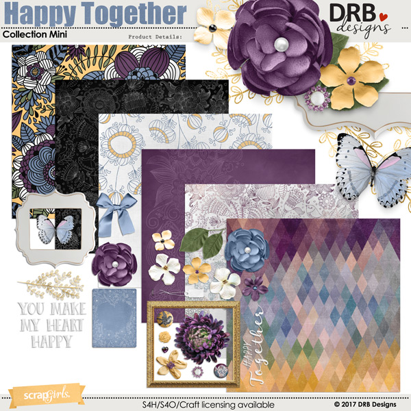 Happy Together Collection Mini by DRB Designs | @ ScrapGirls.com