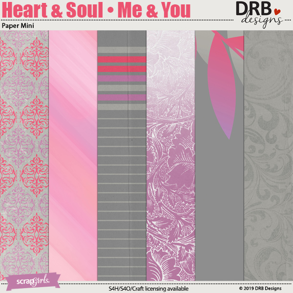 Heart & Soul • Me & You Paper Mini by DRB Designs | Scrapgirls.com