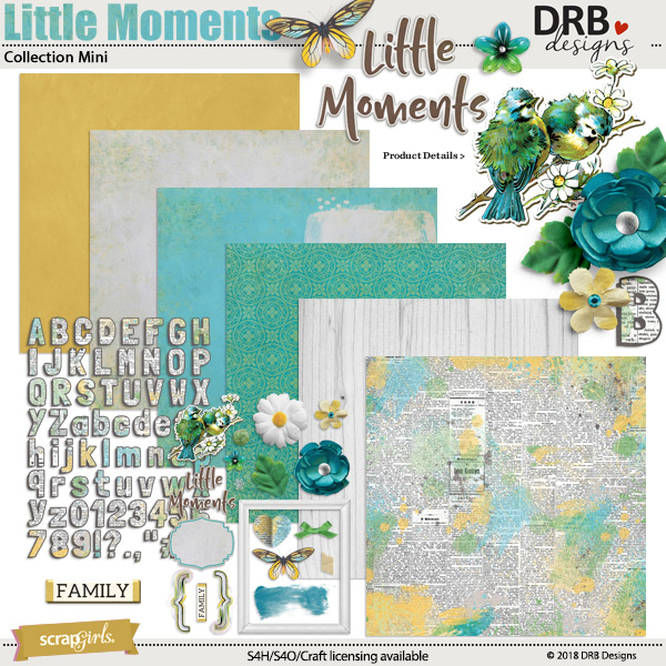 Little Moments Collection Mini by DRB Designs | ScrapGirls.com