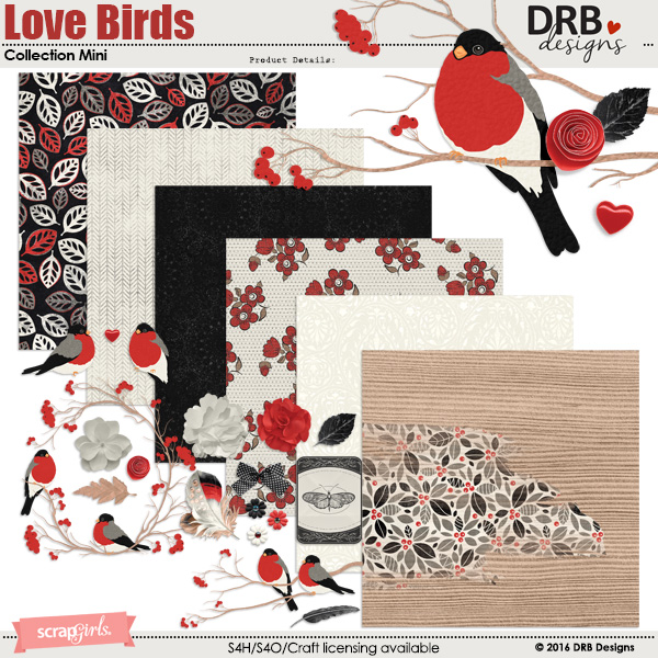 Love Birds Collection Mini | by DRB Designs @ ScrapGirls.com