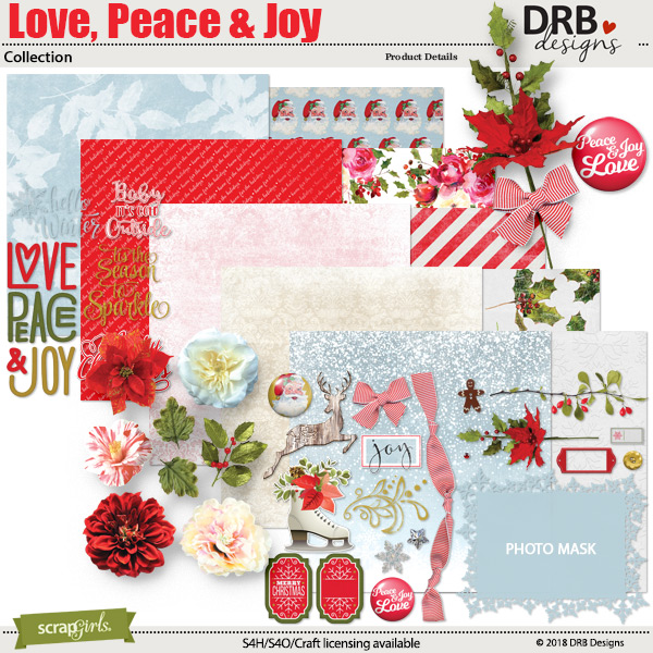 Love Peace & Joy Collection by DRB Designs | ScrapGirls.com