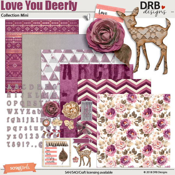 Love You Deerly Collection Mini by DRB Designs | ScrapGirls.com