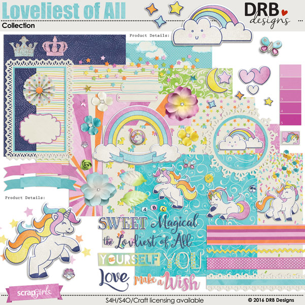 Loveliest of All Collection by DRB Designs | ScrapGirls.com