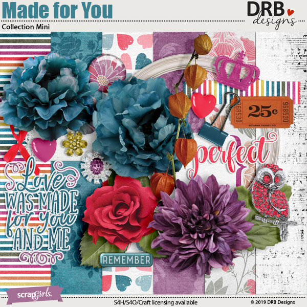 Made for You Collection Mini by DRB Designs | ScrapGirls.com