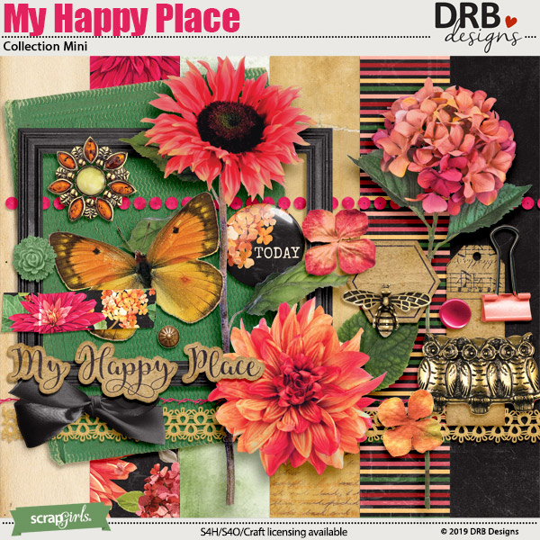 My Happy Place Collection Mini by DRB Designs | ScrapGirls.com