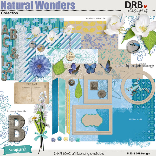 Natural Wonders Collection by DRB Designs | ScrapGirls.com