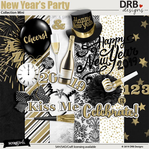 New Years Party Collection Mini by DRB Designs | ScrapGirls.com