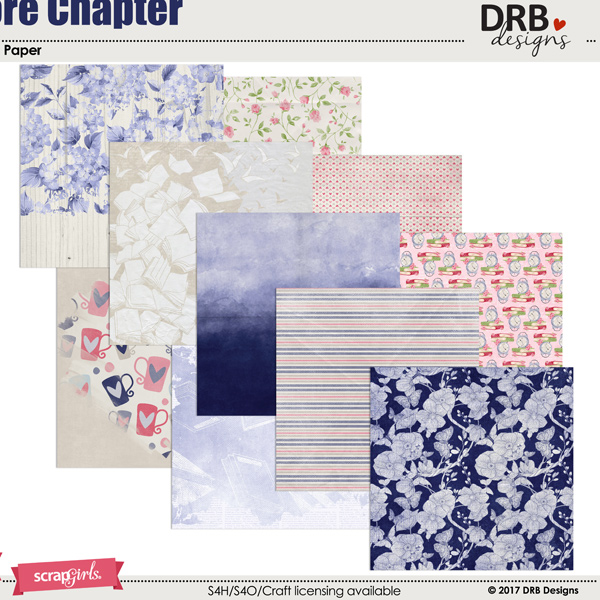 One More Chapter Paper by DRB Designs | ScrapGirls.com