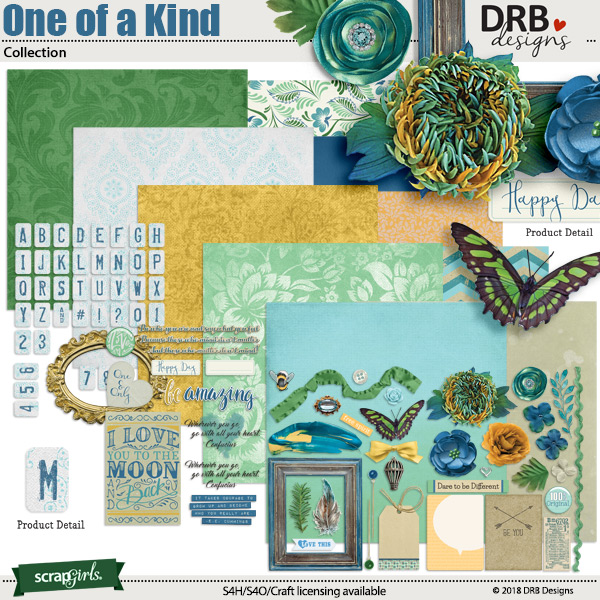 One of a Kind Collection by DRB Design | ScrapGirls.com