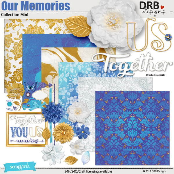 Our Memories Collection Mini by DRB Designs | ScrapGirls.com