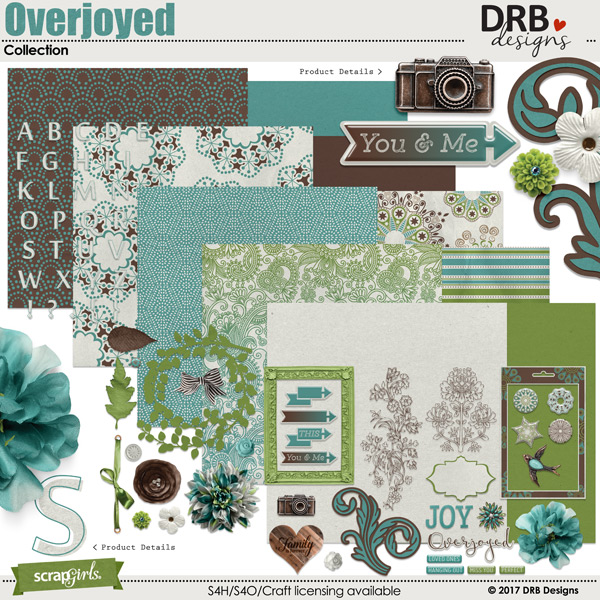 Overjoyed Collection by DRB Designs | @ ScrapGirls.com