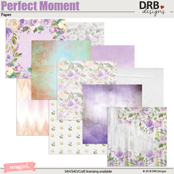 Perfect Moment Paper by DRB Designs | ScrapGirls.com