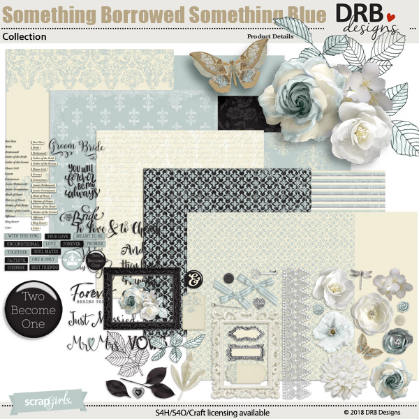 Something Borrowed, Something Blue Collection by DRB Designs | ScrapGirls.com
