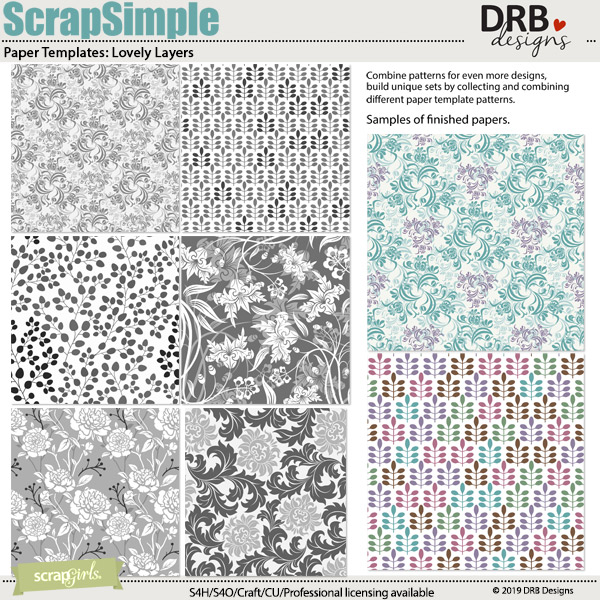 ScrapSimple Paper Templates: Lovely Layers
