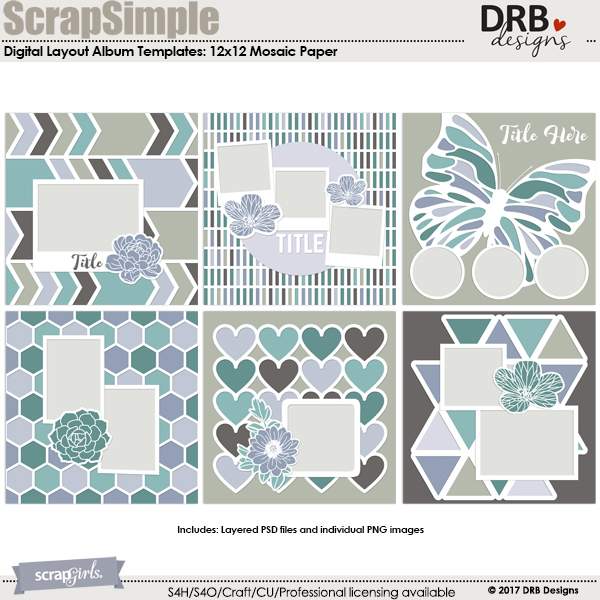 ScrapSimple Embellishment Templates