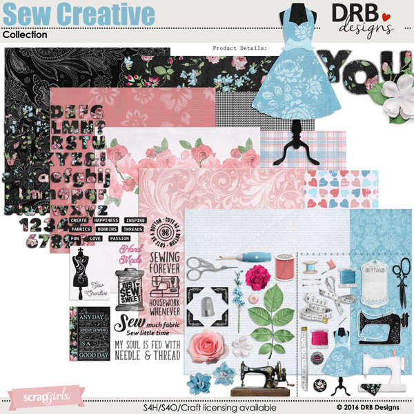 Sew Creative Collection | by DRB Designs @ ScrapGirls.com