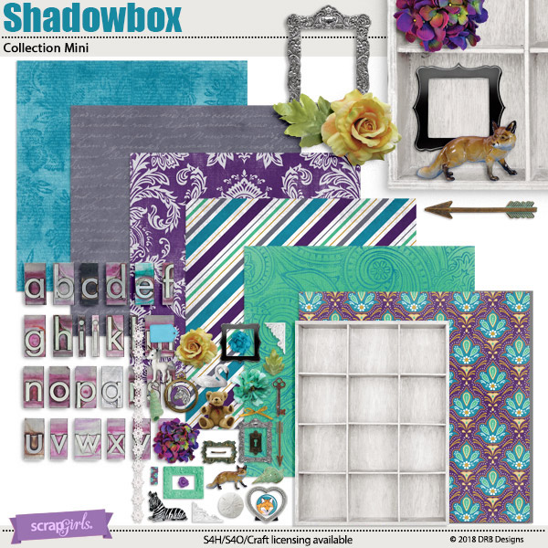 Shadowbox Collection Mini by DRB Designs | Scrapgirls.com