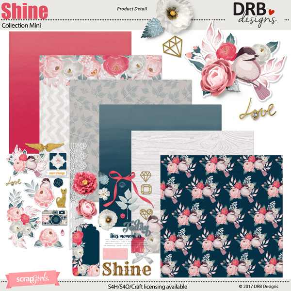 Shine Collection Mini by DRB Design | ScrapGirls.com