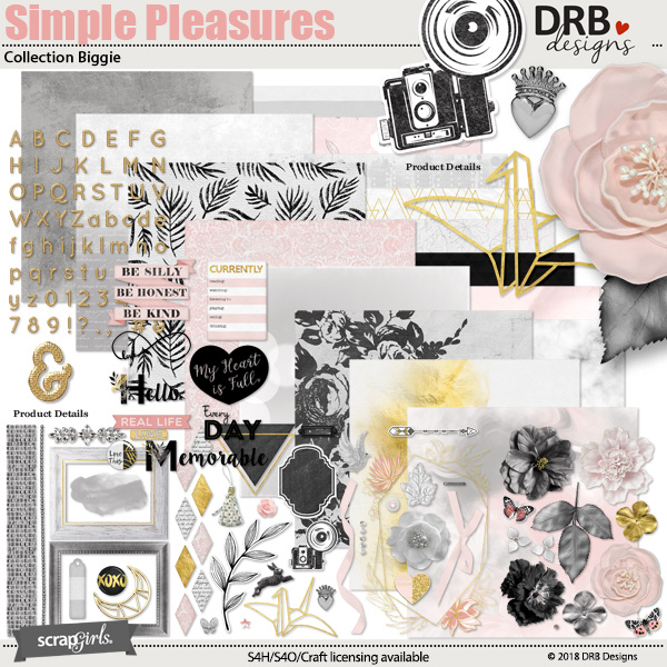 Simple Pleasures Collection Biggie by DRB Designs | ScrapGirls.com