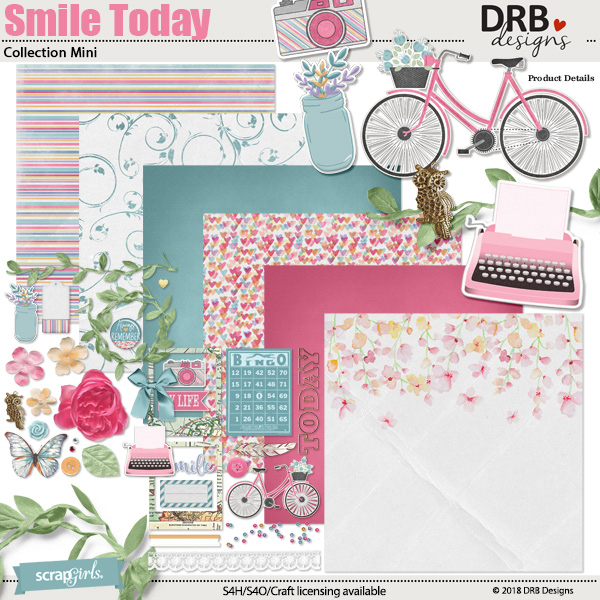 Smile Today Collection Mini by DRB Designs | ScrapGirls.com