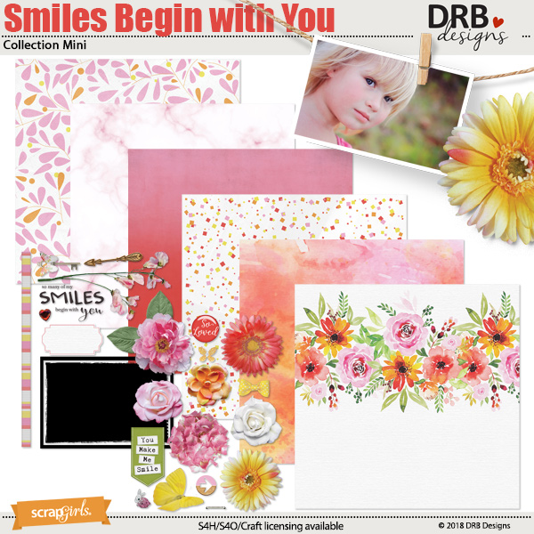Smiles Begin with You Collection Mini by DRB Designs | ScrapGirls.com