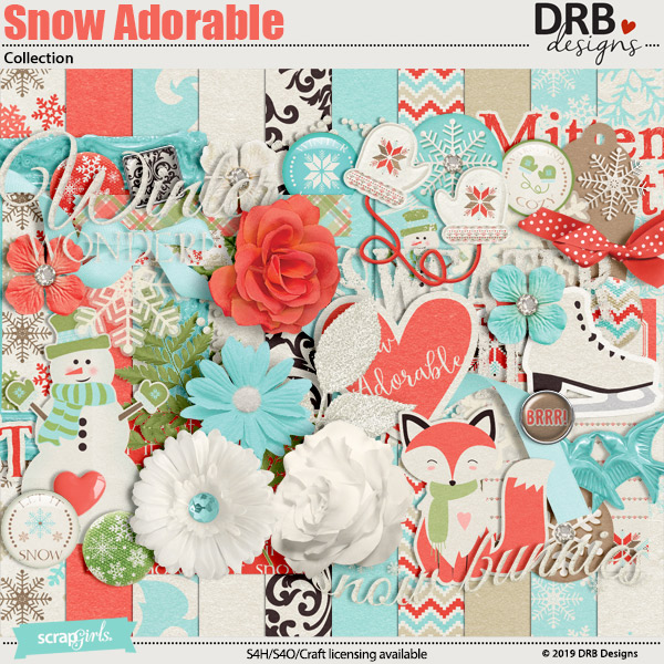 Snow Adorable Collection by DRB Designs | ScrapGirls.com