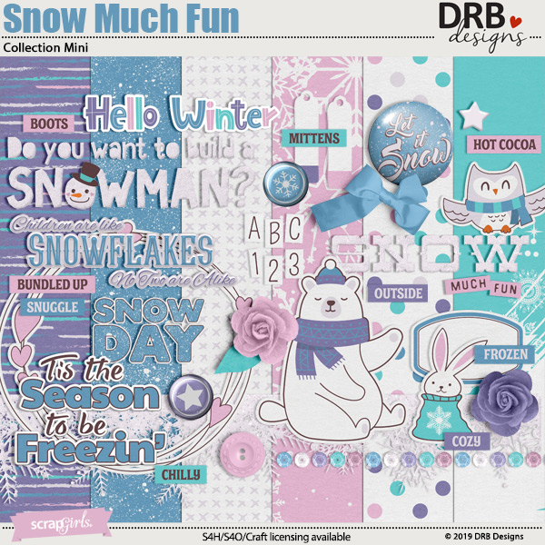Snow Much Fun Collection Mini by DRB Designs | ScrapGirls.com
