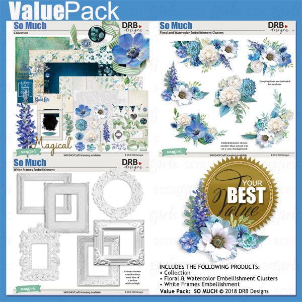 Value Pack: So Much by DRB Designs | ScrapGirls.com