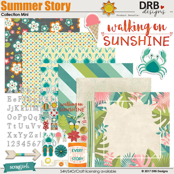 Summer Story Collection Mini by DRB Designs | ScrapGirls.com