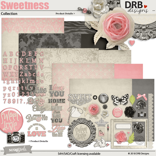 Sweetness Collection by DRB Designs | ScrapGirls.com