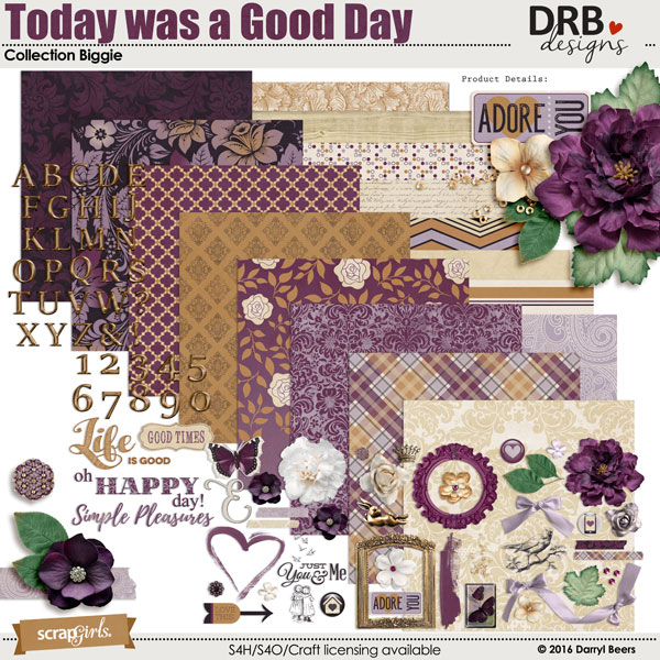 Today was a Good Day Collection Biggie by DRB Designs | ScrapGirls.com