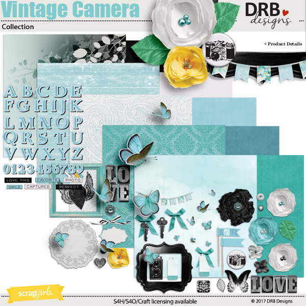 Vintage Camera Collection by DRB Designs | ScrapGirls.com