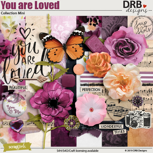You are Loved Collection Mini by DRB Designs | ScrapGirls.com