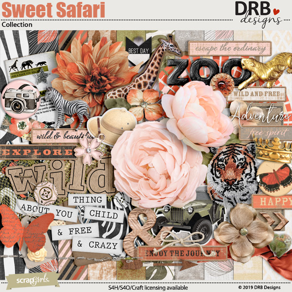 Sweet Safari Collection by DRB Designs | ScrapGirls.com