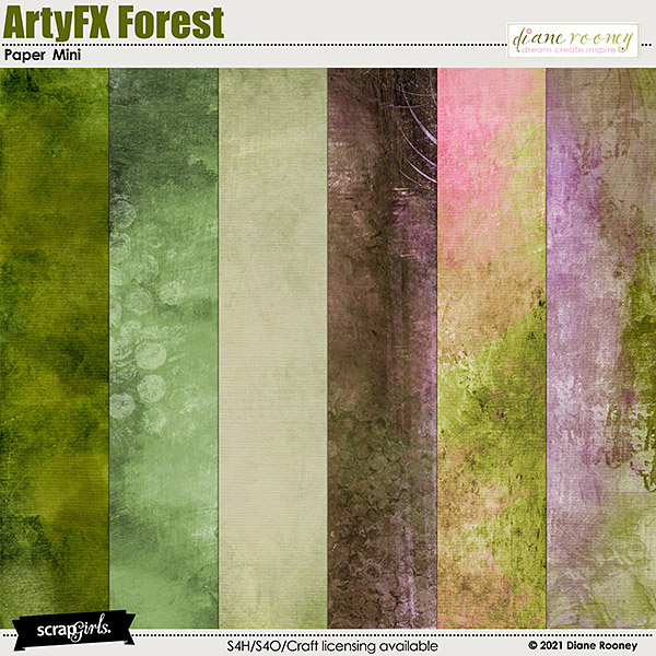 ArtyFX Forest Paper Mini by Diane Rooney