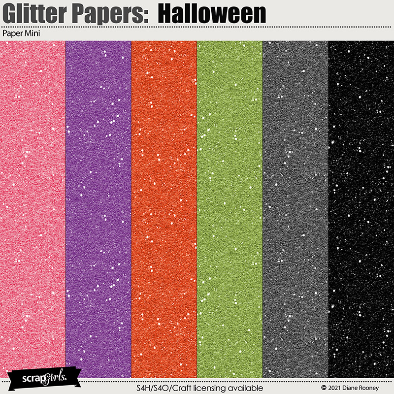 Glitter Papers: Halloween by Diane Rooney