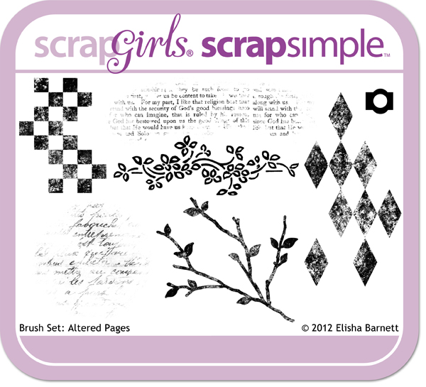 "You may also like <a href=""http://store.scrapgirls.com/p27152.php"">Brush Set: Altered Pages</a> (sold separately)"