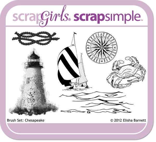 "You may also like <a href=""http://store.scrapgirls.com/product/26443/"">Brush Set: Chesapeake</a> (sold separately)"
