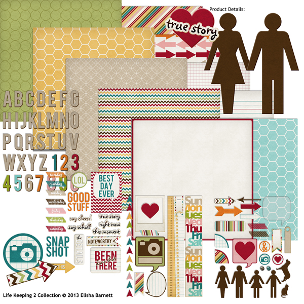 "You may also like <a href=""http://store.scrapgirls.com/life-keeping-2-collection-p27708.php"">Life Keeping 2 Collection</a> (sold separately)"