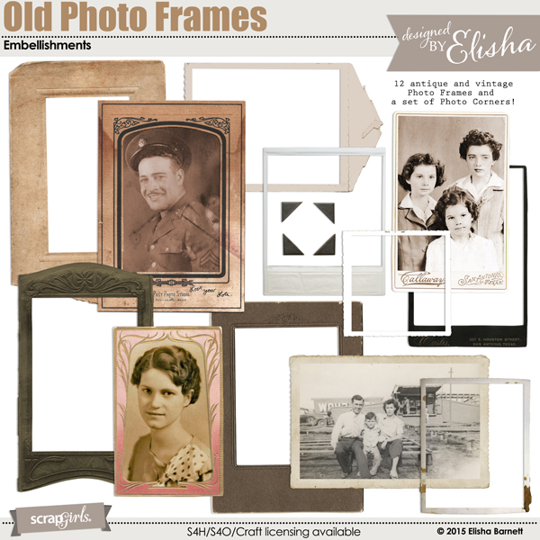 Old Photo Frames Embellishments