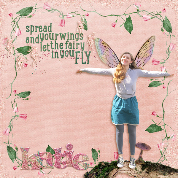 Digital Layout featuring Value Pack: Fairy Frolic