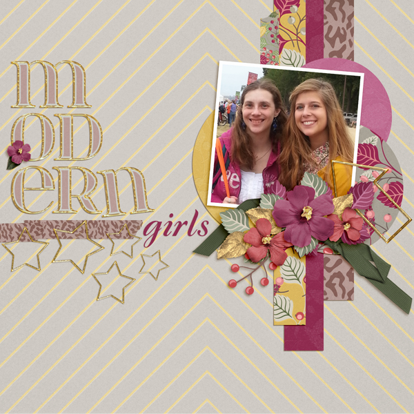 Digital Scrapbook Layout using Kristen Paper