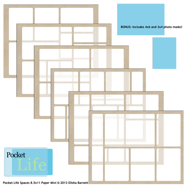 """You may also like <a href=""""http://store.scrapgirls.com/8-5x11-pocket-life-spaces-paper-mini-p27718.php"""">8.5x11 Pocket Life Spaces Paper Mini</a> (sold separately)"""