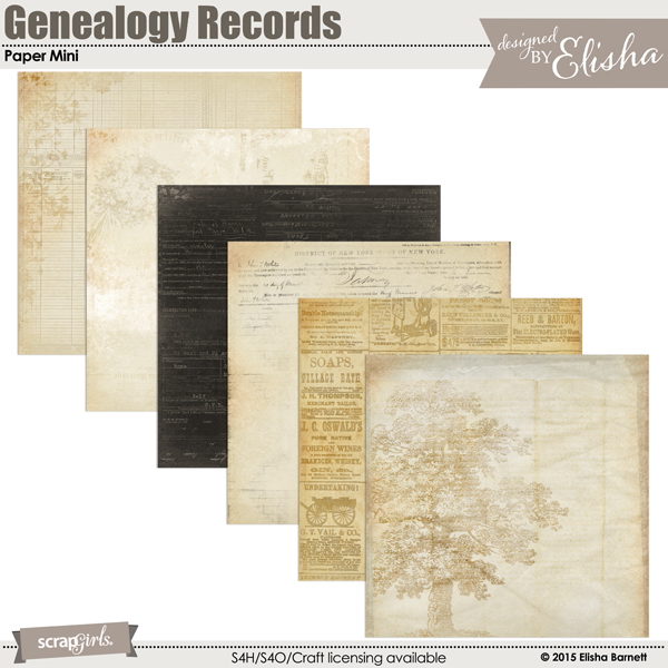 Genealogy Records Paper Mini