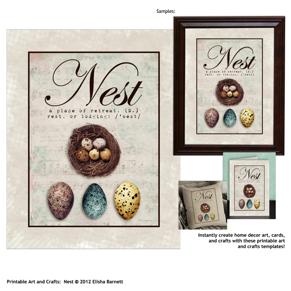 Printable Art and Crafts: Nest