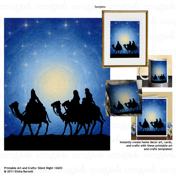 Printable Art and Crafts: Silent Night 12603